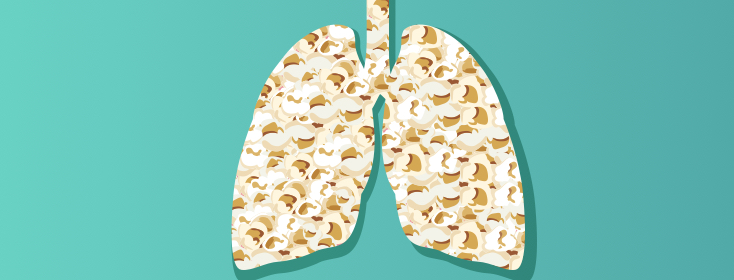 lungs with popcorn in them