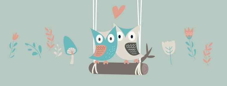 birds together on a swing