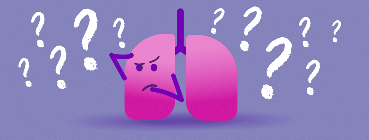 confused lungs with question marks