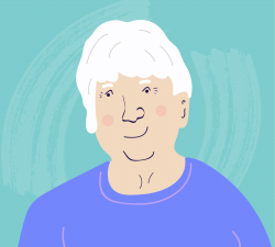 Illustrated headshot of COPD.net Advocate Janet Plank