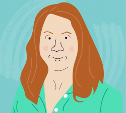 Illustrated headshot of COPD.net Advocate Lyn Harper