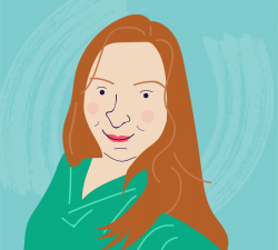 Illustrated headshot of COPD.net Advocate Michelle Vincent