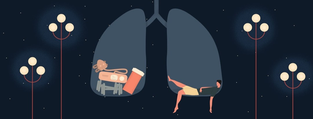 a person lying in the right side of the lung fatigued and things to help fight fatigue in the left lung.