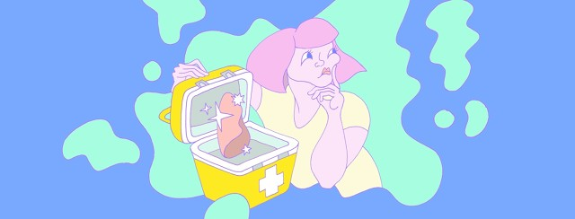 a woman ponders over an open cooler with a new lung organ