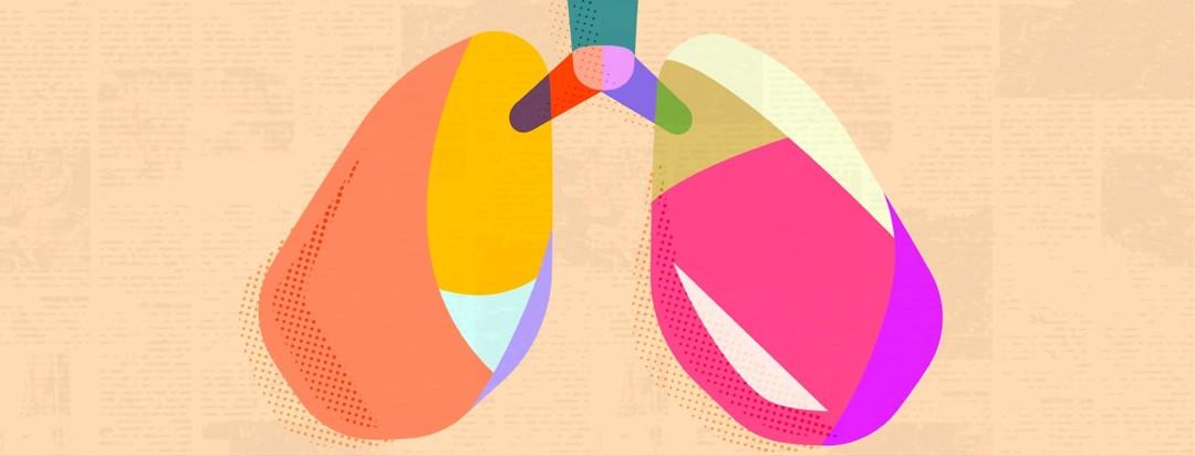 multicolored lungs